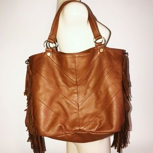 Steve Madden brown fringe purse